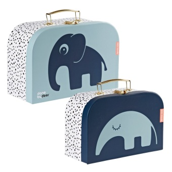 2-pack väskor - Suitcase set, blue