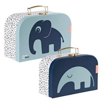 2-pack väskor - Suitcase set, blue