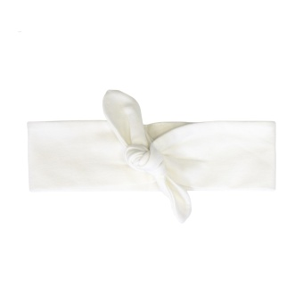 Pannband/hårband med knut (vit)