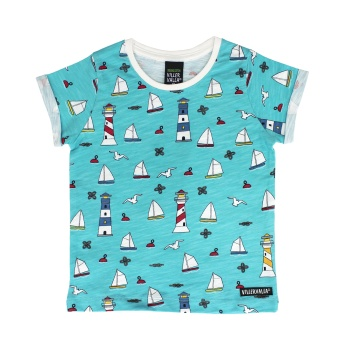 T-shirt med segelbåtar