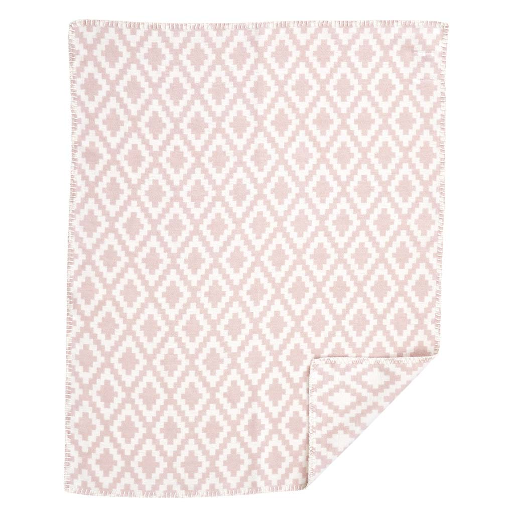 Bomullsfilt - Diamonds baby - pale pink