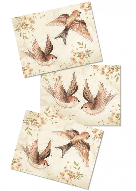DIY - Paper Friends - Sparrows