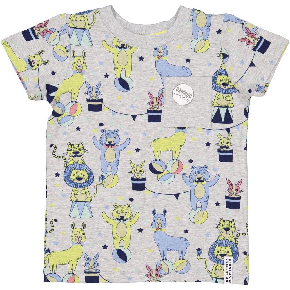 T-shirt - Grey Circus, bamboo