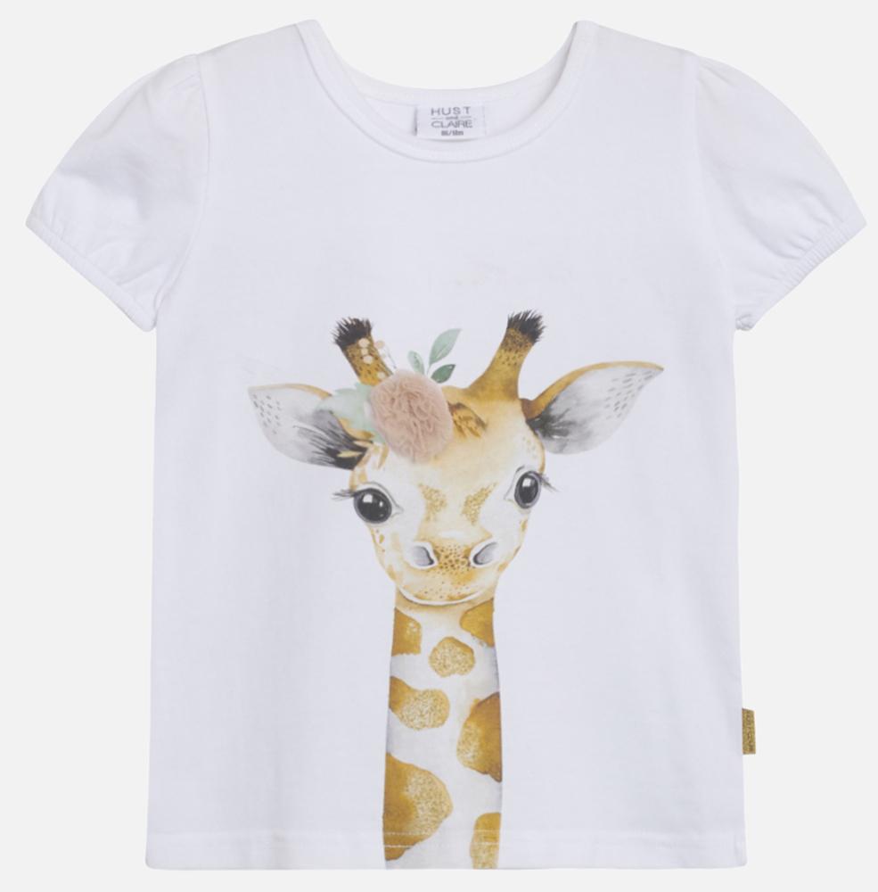 T-shirt Annielle med giraff