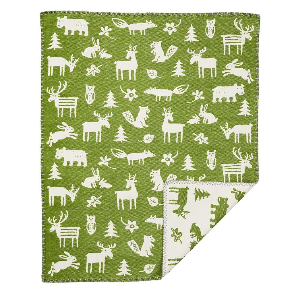 Bomullsfilt - Forest - grön