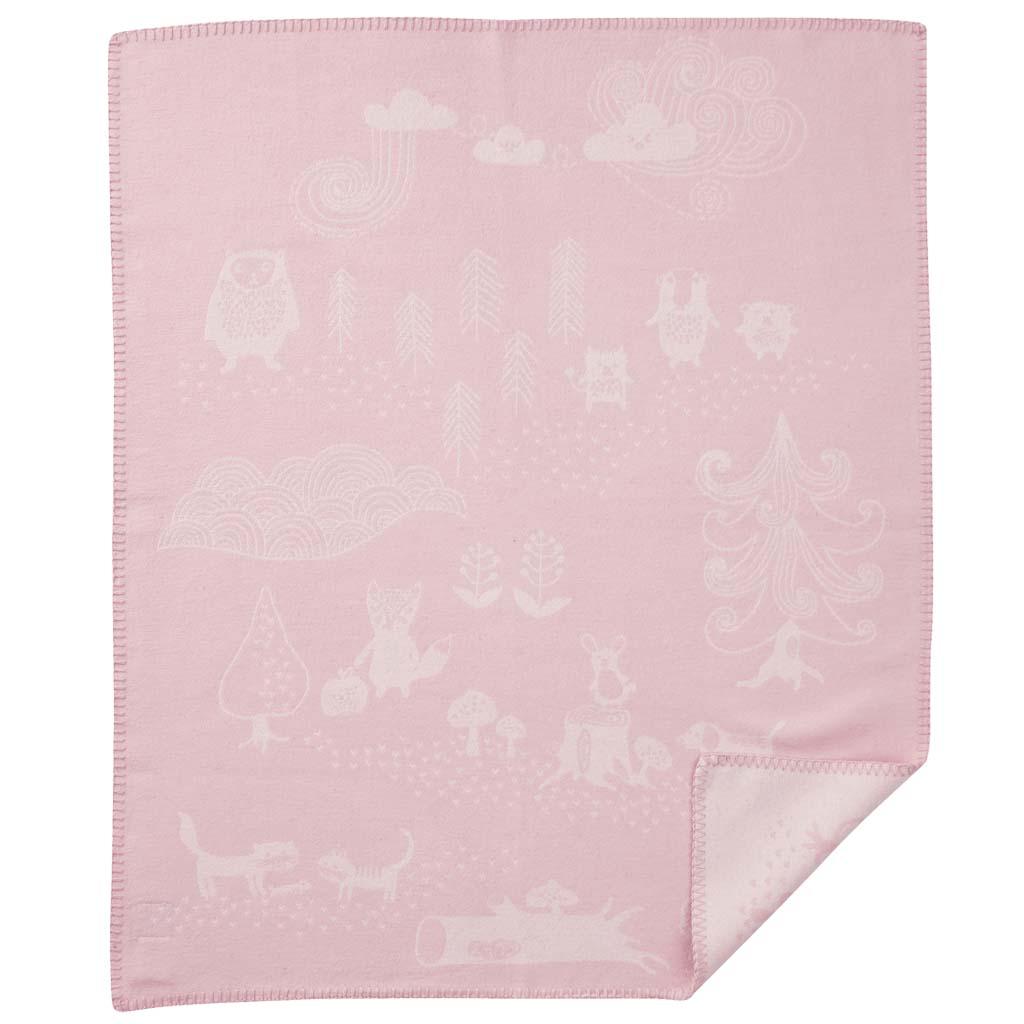 Bomullsfilt - Little Bear - rosa