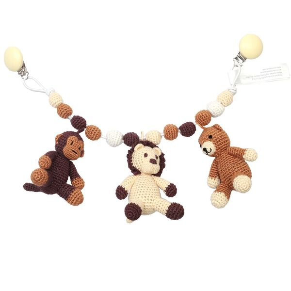 Barnvagnsmobil - Bear, lion and monkey