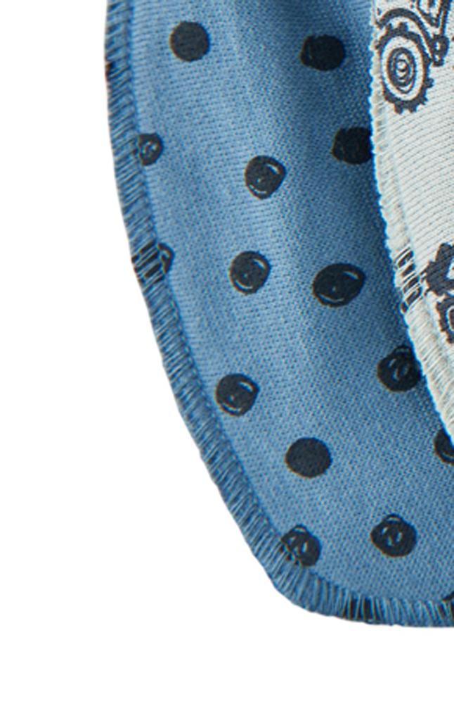 Scarf/Dreggellapp - Blå prick