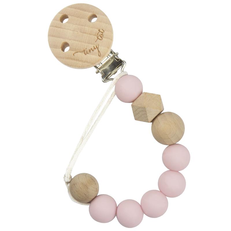 Napphållare i trä - Ljus rosa