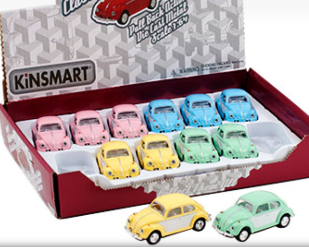 VW Bubbla mini pastell - dörrar skala 1:64