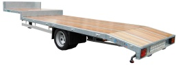 Fifth wheel with beavertail, single axle 5500kg