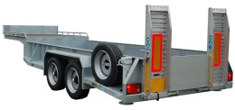 Fifth wheel with beavertail, double axle 7500kg