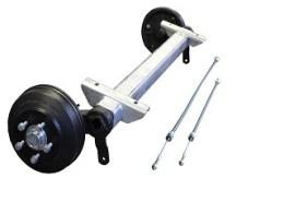 Axle CB 1805 kg, Eco, small pad 1600