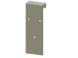 Frame from spare wheel support for ladder rack Azure H