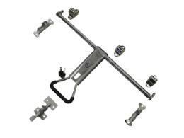 Espagnolet door gear in stainless steel for box van model 150 cm high