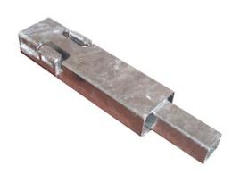 Mittstolpe till Azure H 30 cm hög, galvaniserad