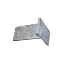 Jockey wheel support for model 3500 kg, boltable and galvanised