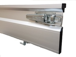 Drop side, leftside, aluminium, 335 x 30, complete with 4 hinge pins, Azure H