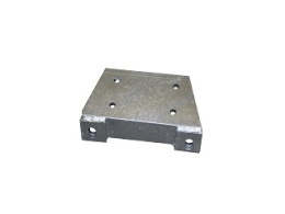 Jockey wheel angle support, boltable and galvanised