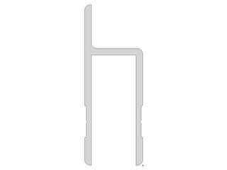 U-profile, 40X20X40X2 mm, Straight lip, Per meter