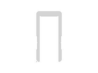 U-profile, 40X20X40X2 mm, Per meter