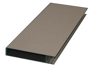 Upper wall profile Cobalt H, 10 cm, Per meter