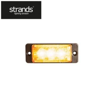 Strands Blixtljus Slim 12-24V 3LEDx3W ECE/R65 class 1 godkänd Orange