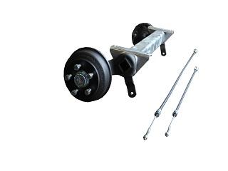 Axle CB 1355 kg, Eco, pad 1000