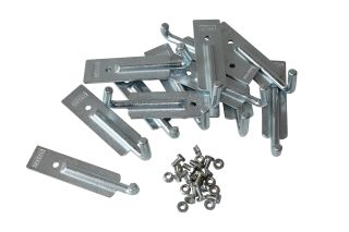 Rope hook to bolt, Set 12 pieces (8x long + 4x short)