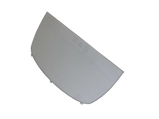 Mudguard protection plate silver/grey, for mudguard plastic BKS 200/270 (for model Basic L)