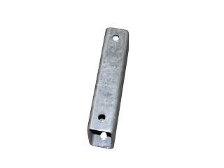 Filling tube for mechanical brake 8 cm, galvanised