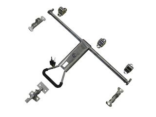 Espagnolet door gear in stainless steel for box van model 180 cm high