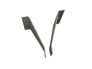 Support for gas spring, for tailramp, boltable and galvanised