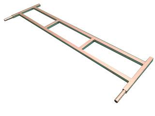 Front ladderrack 134x40 stiffened, for model Azure L 130 cm, galvanised