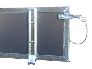 Tailwall, multiplex, 130 x 30, complete, in welded frame, K-R (old model)