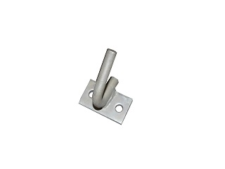 Rope hook, to bolt, galvanised