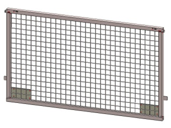 Front / rear weldmesh extension 150x75, for model Azure L, with lock