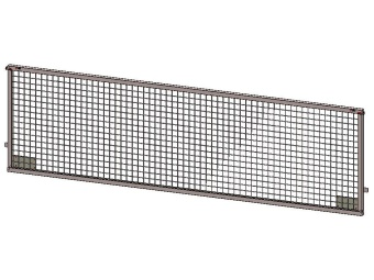 Side weldmesh extension 250x75, for model Azure L, with lock