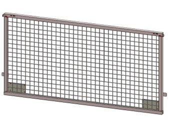 Front / rear weldmesh extension 200x75, for Azure H, with lock