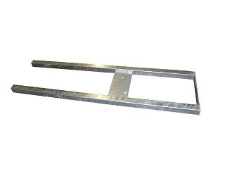 Ram för reservhjulsstöd  under Azure H, galvaniserad