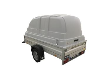 Hapert Basic L1 1350 kg bromsat med kåpa 100 cm