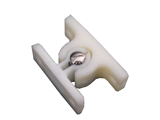 Doorclamp, plastic , colour white