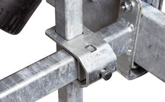 Fäste for sidorullar/sidostödsarm 80x40 mm