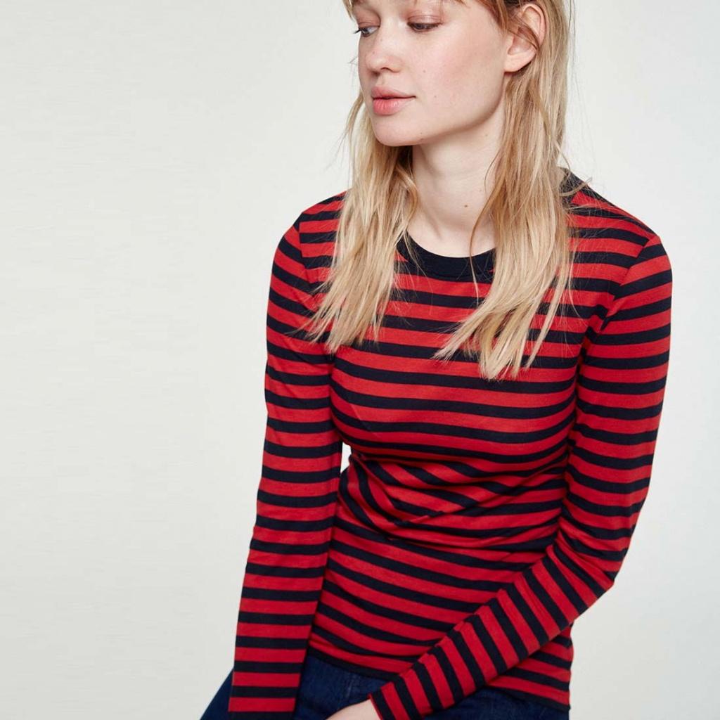Lara Bold Stripes - Scarlet Red