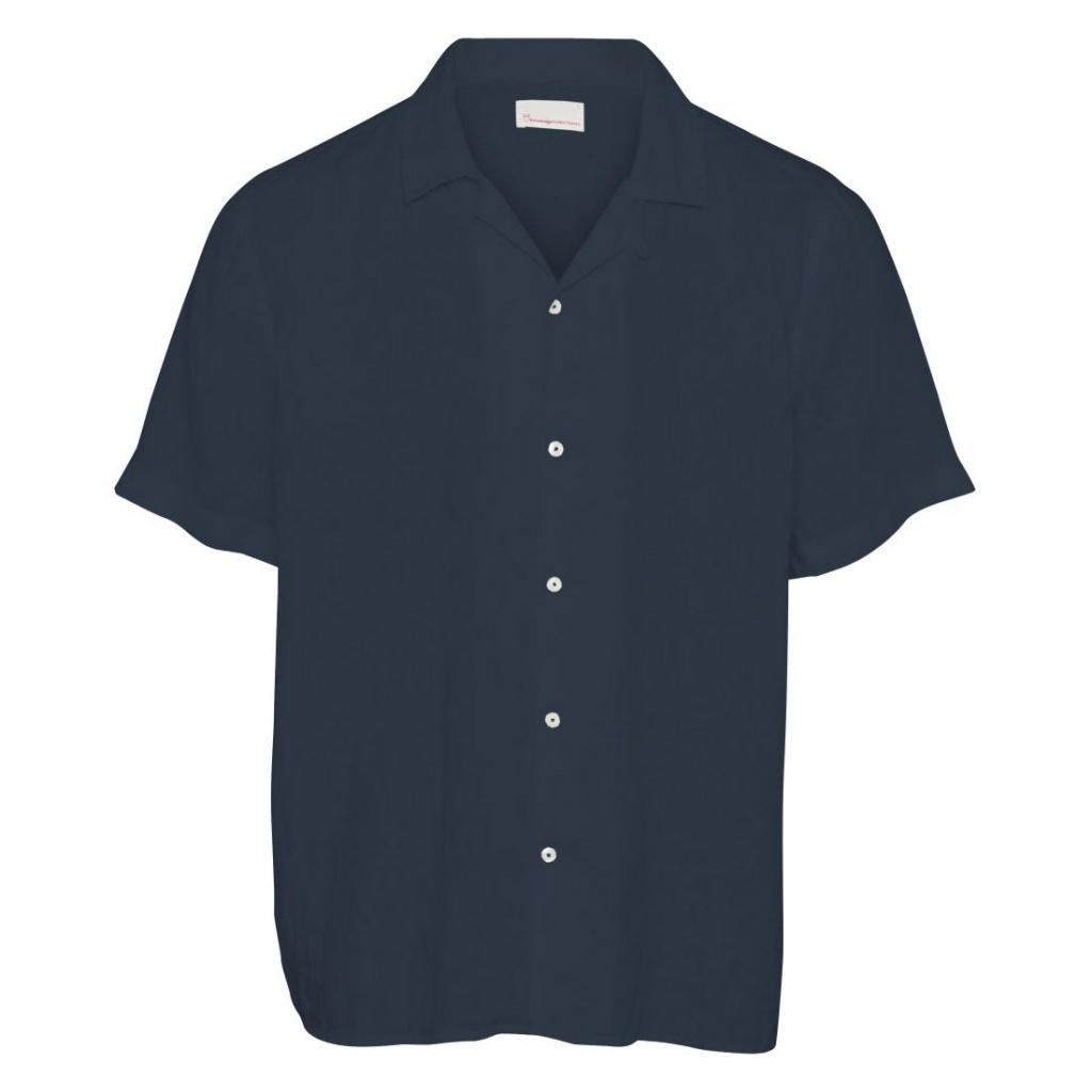 Linen S/S Shirt- Total Eclipse