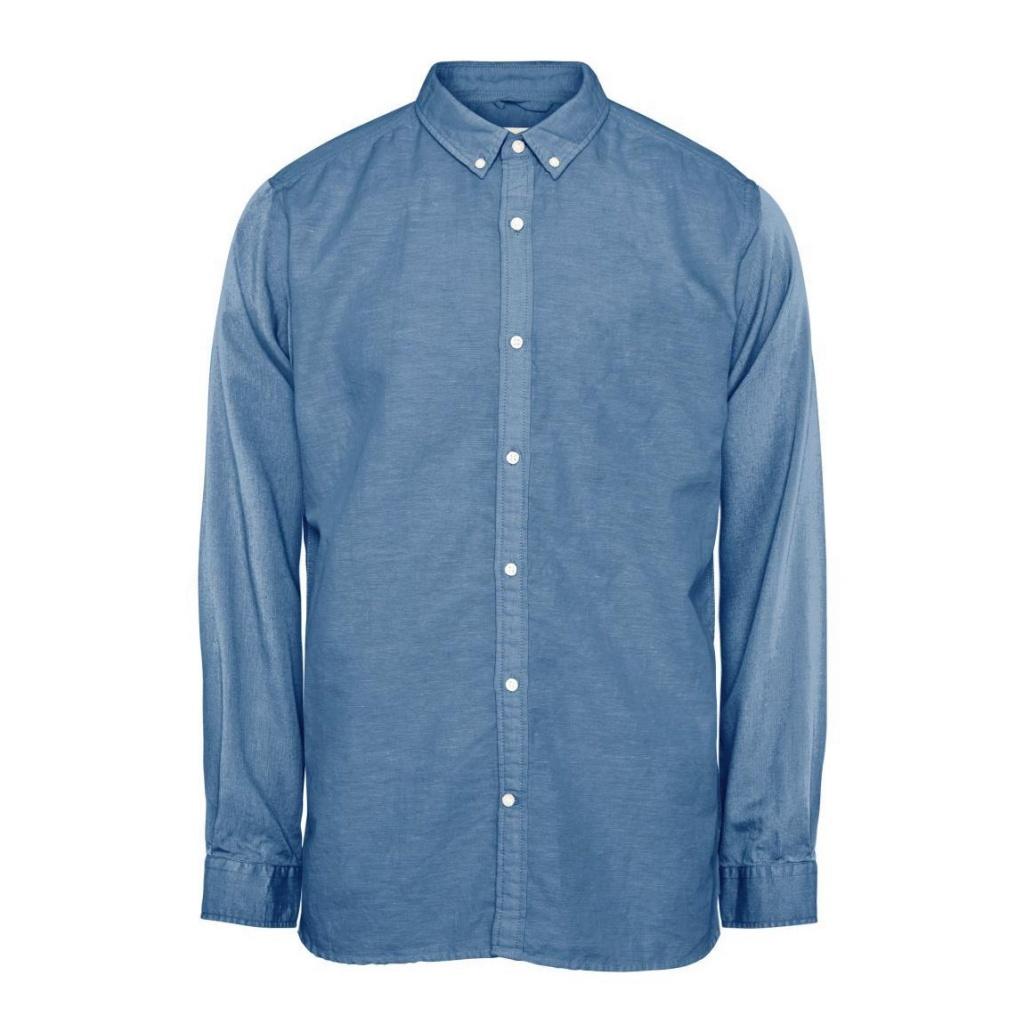 Cotton/Linen Shirt - Heritage Blue