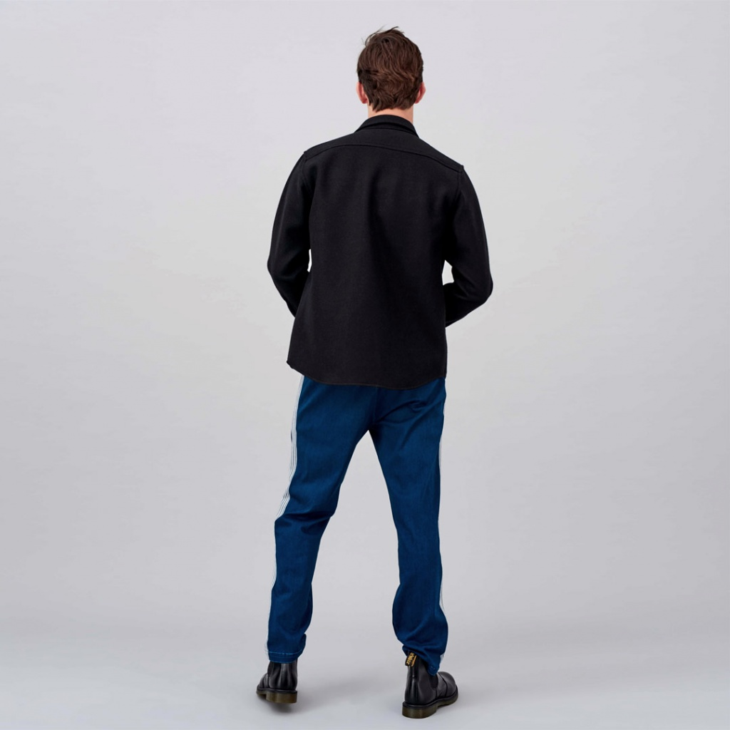 Angus Wool Shirt - Black