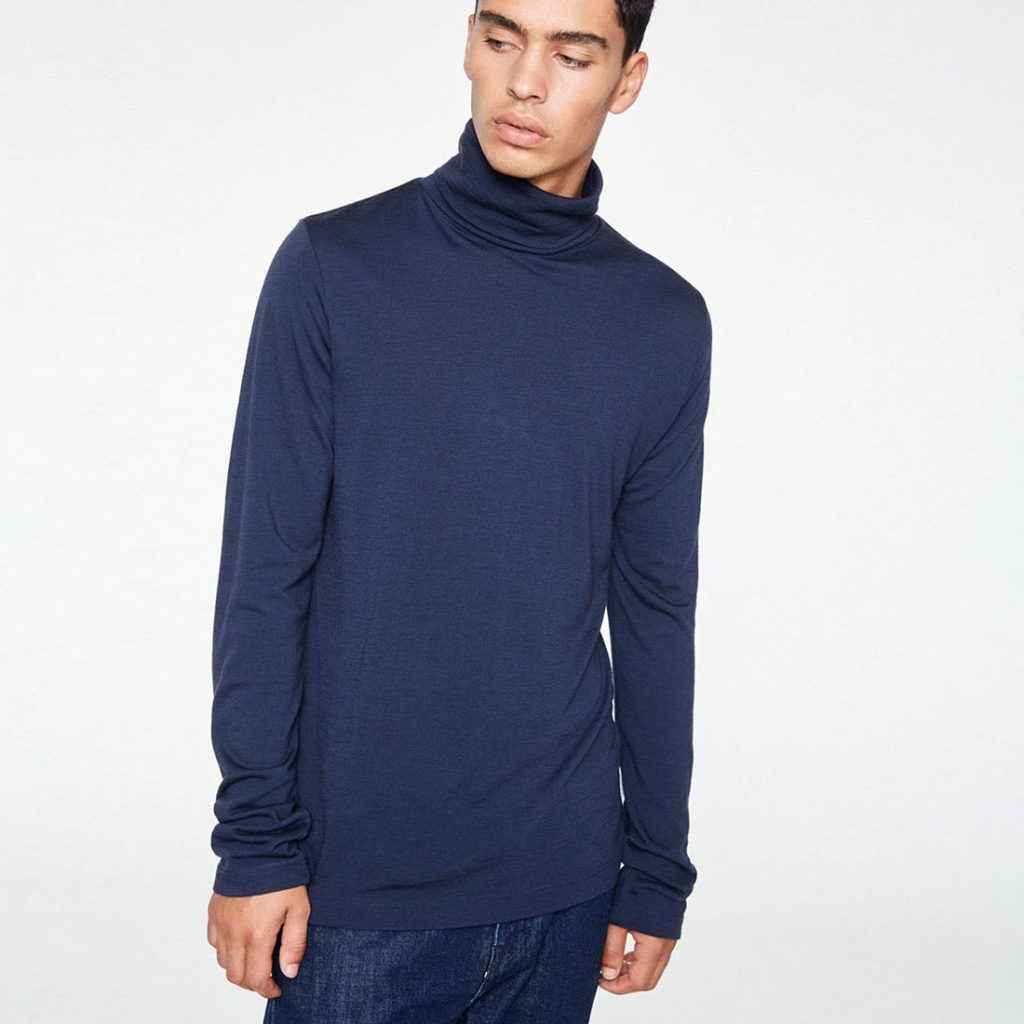 Scotty Merino Turtleneck - Navy
