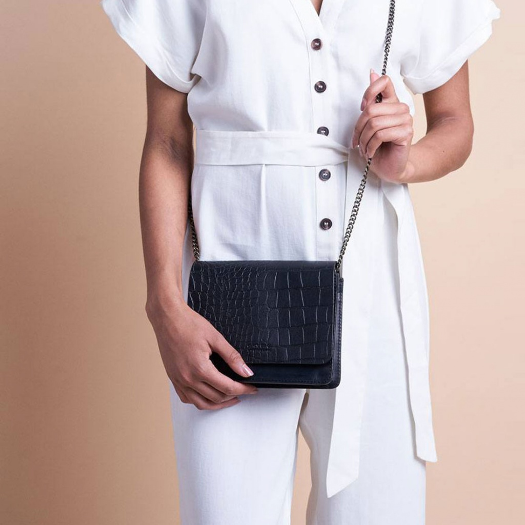Audrey Mini - Black Croco