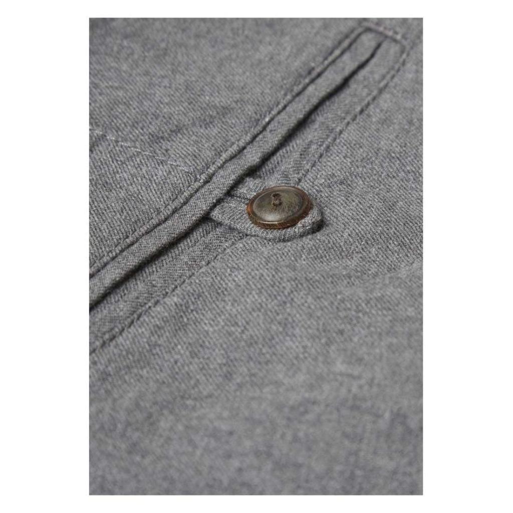 Twill Flannel Chinos - Grey Melange
